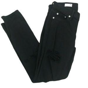 GAP Jeans - Gap 1969 girlfriend jeans black distressed 25